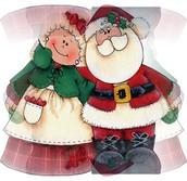 Visita con Santa Claus y la Sra. Claus!