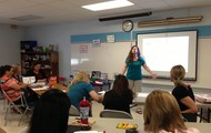 Kelly Myers presenting a powerful Conscious Discipline session!