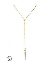 SOLD Bianca Lariat Necklace - Gold