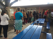 Teachers prepared for Parent Conferences with a meal provided  by the Lodge