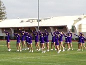 Cheerleaders add athleticism to our first rally