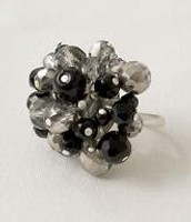 Sofia Cluster Ring-Black