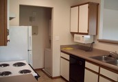 We provide all modern appliances, including the stack washer and dryer.