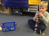 Stacking 100 Legos