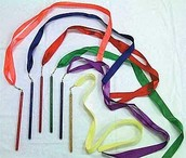 2nd Grade Girls Ribbon Sticks