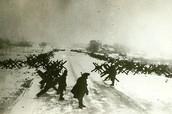 Противотанковые укрепления на подступах к Москве. 1941 г.