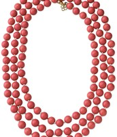 La Coco rope necklace-coral