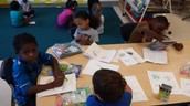 We Color our letters.