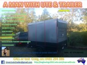 A Man With Ute & Trailer