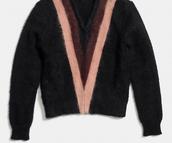 COLORBLOCK brushed v-neck sweater
