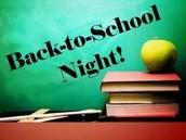 2015-2016 Back to School Nights