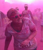 I love to do fun things around town, like the Color Run, which I did two years in a row! It was so much fun!