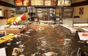 Flooded McDonalds