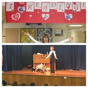 British storyteller, Bernadette Nason, presents to our Panthers on I Love Reading Day!