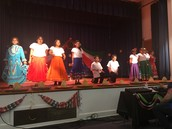 Our 3 to 5 grade scholars singing during the 5 de mayo performance.