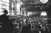 The church service that Martin Luther King Jr. was elected President of the bus boycott.