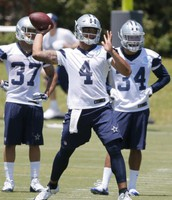 The Rookie Prescott is still to see his first TD throw