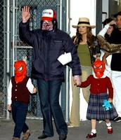 micheal with his kids .