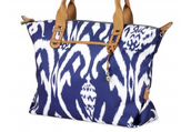 Your booking gift.....the Navy Ikat How Does She Do it Bag!!