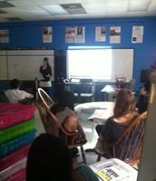 Ashley delivering her Science Presentation