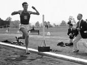 Zamperini competing