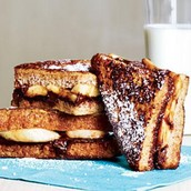 Banana-Chocolate French Toast