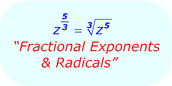 putting a rational exponent in radical form