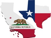 Texas & California
