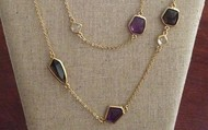 Pippa necklace - purple - NOW $30