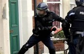 police at the door