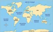 Map of Oceans