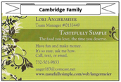 Tastefully Simple - Lori Angermeier