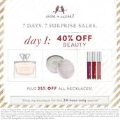 7 Days...7 Surprise Sales