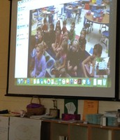 Skyping with our 1st grade friends.