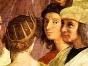 Raphael self portrait in School of Athens