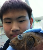Selfies with a big-eyed fish
