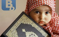 a small Islam child.