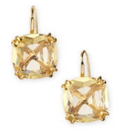 Cushion Drop Earrings- Citron
