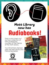 New at Mott Library - We Have Audiobooks!