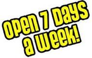 Estamos abiertos los 7 dias de la semana!