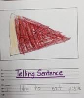 First Grade Telling Sentences