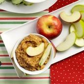 8.crunchy peanut butter apple dip