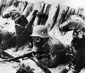 picture of people wearing gas masks