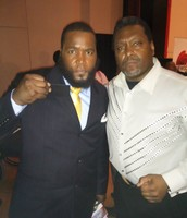 DR. Umar  Johnson Holding Up His Black Bank Of America Card