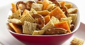 Our chex mix takes the flavors of Wisconsin and pulls them together with Chex cereal and pretzels.