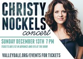 Christy Nockels in Concert, December 13 @ 7 PM