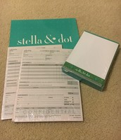 Stella & Dot Note Cards/Envelopes, Order Forms, Sign