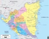 Political Map of Nicaragua