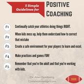 Positive Coaches=Better Athletes