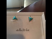 Deja Vu Stone Studs in Turquoise-- $19.50